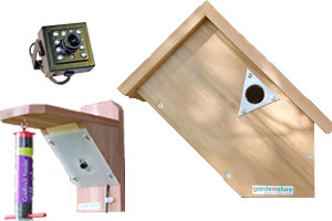 20m Wired Colour Bird Nestbox & Feeder Ultra HI-RES Side Camera System with Night Vision