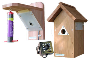 20m Wired Colour Bird Nestbox & Feeder Camera System with Night Vision
