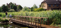 Bridge 22 - 35' (10.67m) flat bridge for Hillingdon Borough Council – all stained Dark Oak. 				  POA