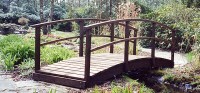 Bridge 2 - 11ft (3.35m) curved bridge (Country style) - our longest stock bridge - stained Dark Oak. £725