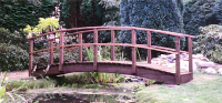 Bridge 3 - 13ft (3.96m) curved bridge (Country style) – stained Dark Oak. All components normally kept in stock.  £1060