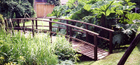 Bridge 6 - 21ft (6.40m) curved bridge (Country style) - stained Dark Oak. POA